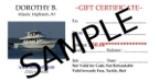 Purchase Dorothy B gift fishing boat gift certificates for tickets